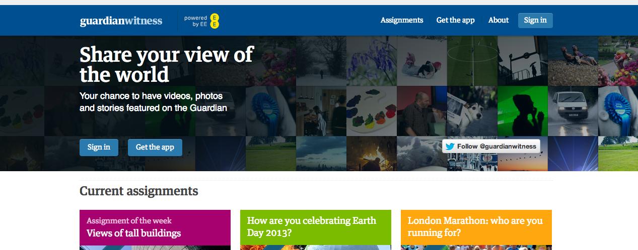 Iniciativa de The Guardian para fomentar el periodismo ciudadano.