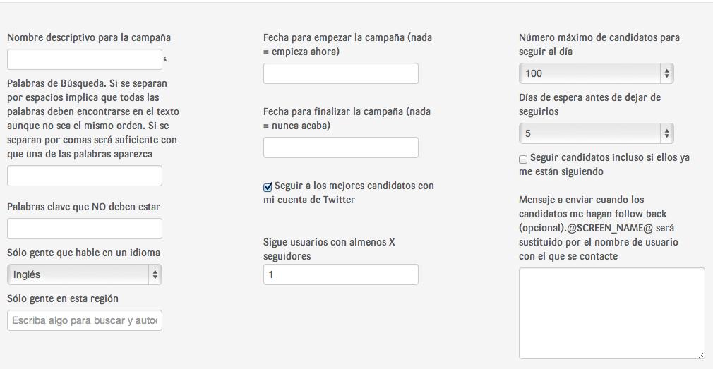 SocialVane permite mandar mensajes con ofertas y descuentos a nuestros seguidores en Twitter.
