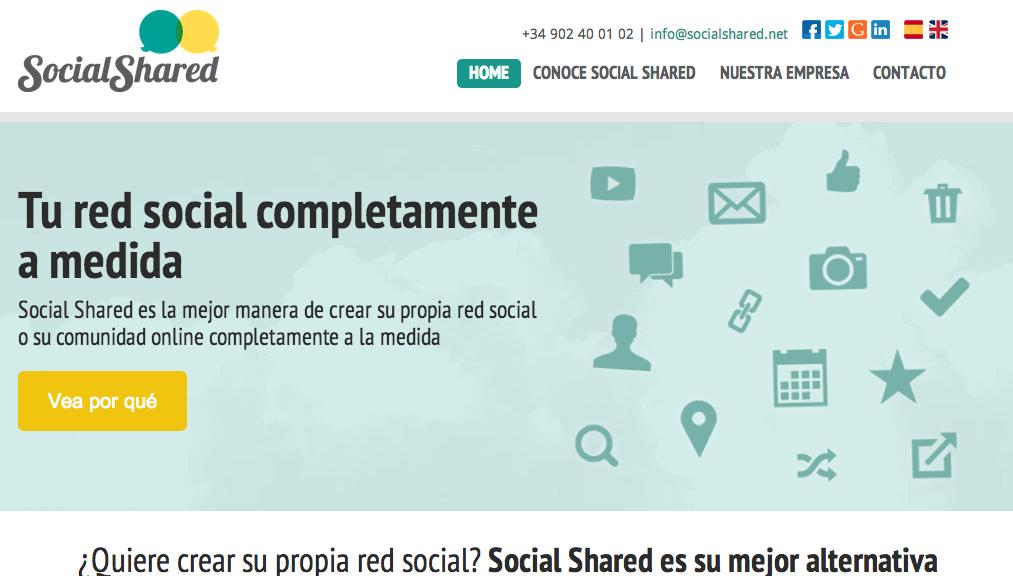 SocialShared es un ejemplo de red social corporativa.