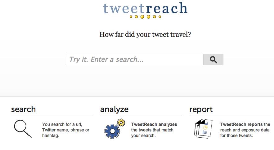 Tweetreach es una de las herramientas que podemos usar para sacar información sobre un hashtag.
